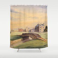 St Andrews Golf Course Scotland Hole Shower Curtain by Bill Holkham - by Public Golf Courses, Best Golf Courses, St Andrews Golf, Augusta Golf, Coeur D Alene Resort, Golf Course Reviews, Golf Theme, Landscape Photography, Scotland
