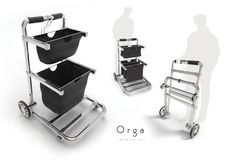 "Orga Cart was a college assignment where students were tasked to come up with shopping transportation design. ""Orga"" is a concept shopping cart for customers to transport their purchased products inside a shop, especially in the supermarket."