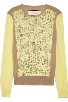 By Malene Birger|Sunnia embellished fine-knit wool sweater|NET-A-PORTER.COM