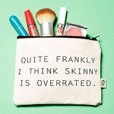 This Mantra pouch by Pamela Barsky is full of personality, and room for all your makeup.