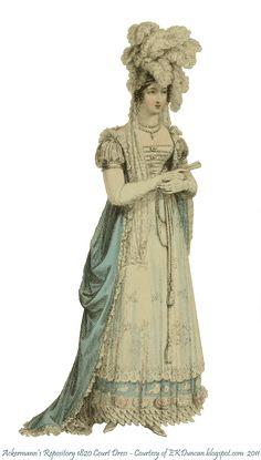1820, robe de cour anglaise.