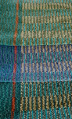 Handwoven Tea Towel Midnight Teal Stripes by HandwovenHome on Etsy, $38.00