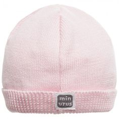 Minutus - Baby Girls Pink Cotton Knitted Hat  f112008db08