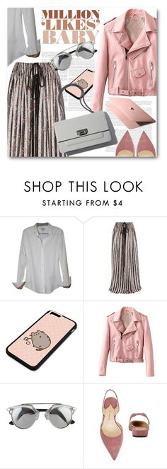 """""""Casual"""" by cilita-d ❤ liked on Polyvore featuring Burberry, Chiara Ferragni, Lanvin, Pusheen and Paul Andrew"""