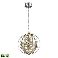 Elk Lighting Light Spheres LED Pendant in Polished Chrome