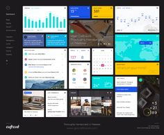 Here's a free dashboard UI kit consisting of 16 elements. This free kit is licensed under CC Attribution Non-Commercial Share Alike. Dashboard Ui, Dashboard Template, Dashboard Design, Ui Design, Ui Components, Modern Website, Website Design Layout, Ui Elements, Design Elements