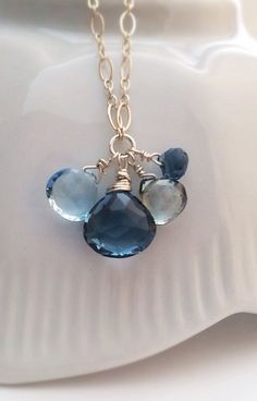 Faceted London and Swiss Blue Topaz Green
