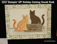 2017 Stampin' UP! Holiday Catalog Sneak Peek Samples from Thailand Incentive Trip - RemARKable Creations Fall Cards, Holiday Cards, Christmas Cards, Christmas Ideas, Making Greeting Cards, Making Cards, Dog Cards, Friendship Cards, Animal Cards
