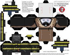 papercraft fire-fighter