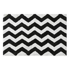 Jacquardweave Bath Mat Blackwhite Patterned Home HM US - Black and white chevron bath rugs for bathroom decorating ideas