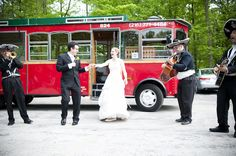 Lolly the Trolley and a Mariachi Band! Cant get any better then that! Happy Days Lodge Wedding | Marie + Justo | Steven Mastroianni Photography
