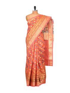 Rust Cotton Silk Saree - Buy Bunkar Sarees For Women Online in India - LimeRoad.com | 848277