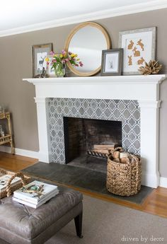 Decorative Tiles For Fireplace Classy Diy Tile Over Marble Fireplace Makeover I Wonder If I Can Talk My Review