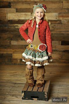 Mustard Pie Clothing Kenzington Skirt in Sandy Aqua Fall 2015 Back to School