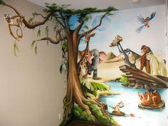 muurschildering lion king - Google zoeken