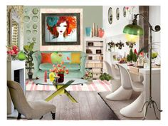 Girl's Pad by aimbilal on Polyvore featuring interior, interiors, interior design, home, home decor, interior decorating, Tiffany & Co., Kate Spade, Nici and Bitossi