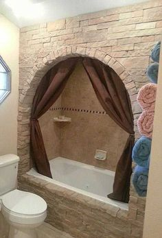 # Update your boring built - in bathtub with faux stone. # Update your boring built-in bathtub with faux stone. , Update your boring built-in bathtub with Faux Stone. , Home Decor & Improvement Sour. Easy Home Decor, Cheap Home Decor, Diy House Decor, Home Improvement Projects, Home Projects, Built In Bathtub, Diy Bathtub, Bath Tub, Bathtub Shower