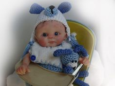 OOAK Polymer clay Original HAND Sculpted Collector Doll PUPPY BABY BOY  ~TRice