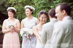 Love this candid moment of the bride smiling at her officiant during her outdoor wedding ceremony at the Smith Barn.  This is why I love documentary wedding photography!!