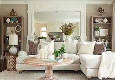 beautiful neutral living space