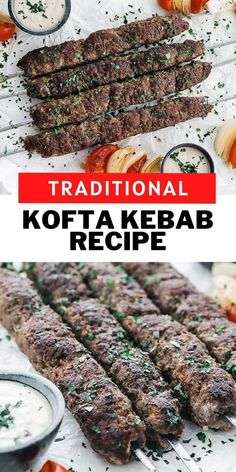 This amazing Middle Eastern style Kofta Kebab is loaded up with beef and lamb and is mixed with delicious seasonings and spices and then grilled to perfection. This is hands down the most flavorful kebab of all time and is incredibly easy to make. Serve it up with a tasty tahini sauce, pita, vegetables, and rice. #beef #dinner #kebab #grill
