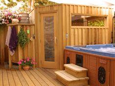 Finlandia sells and ships sauna kits, modular saunas, and custom saunas across the country at affordable prices. Sauna Heater, Dry Sauna, Outdoor Bathtub, Outdoor Sauna, Building A Sauna, Building A House, Saunas, Sauna Kits, Sauna Steam Room