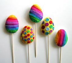 kraina filcu: Pisanki z filcu na piku. Easter Crafts, Spring, Google Search