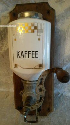 Antike Kaffeemühle Alte Wandkaffeemühle Jugendstil / Art Déco Shabby Chic…