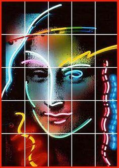 Neon Mona [Lili Lakich] (Gioconda / Mona Lisa)