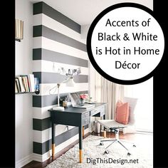 Black & white is always a great choice in a room décor. It's important to get the right balance for the best results. My post today on DigthisDesign.net is about finding that right balance.
