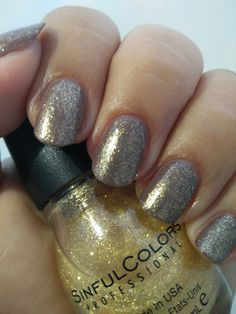 "SinfulColors ""24 Karat"" (topper)/e.l.f. ""Taupe of the World"""