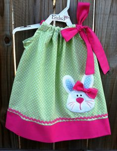 Bunny Easter Pillowcase Dress