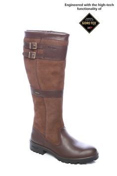Dubarry Longford knee-high boot with stylish double buckle details with GORE-TEX® liner.  $529.00