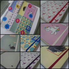 Cuadernos lisos y rayados.  Bynf