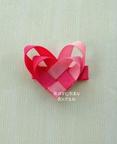 2 inch Heart Valentine's Day Hair Clip Perfect for by blushingbaby, $3.00