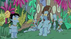 Los Simpson se pasan al azul