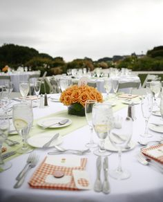 An ambitious project but I love the idea. DIY handmade napkins with coordinating fabric escort cards. From the Purl Bee.