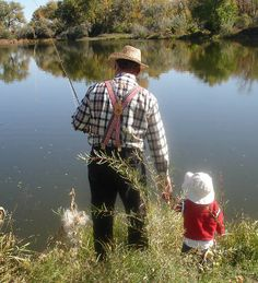 Fishing With Grandpa... And That I DID ! :)  That's where my love of fishing comes from.. <3