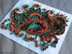 tealcup quilling gallery - Intricacy 3