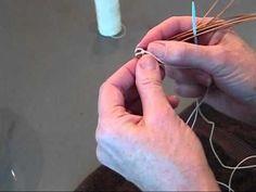 How to Make the Base of Pine Needle Basket začiatok-báza pri pletení z ihličia-návod