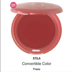 """Stila convertible lip & cheek color I'm such a fan of products that multitasknot only is this sheer red with a hint of pink so natural,this looks like your own pretty glowthe best part is that they look incredible together, monochromatic color looks so sleek & put together! """"Poppy"""" will keep you pretty for hours, lasted through a treadmill session with easeNEW/UNUSED/FULL SIZE. new w/out box. NO! PP/NO! TRADES/other sites❌ price FIRM unless bundling NO! offers please❤ Stila Makeup Blush"""