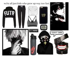 """""""Kaneki Ken inspired (workout)"""" by brighteyes1708 ❤ liked on Polyvore featuring Poste, Topshop, Casetify, NIKE, Justin Bieber, La Crosse Technology, anime, tokyo, ghoul and tokyoghoul"""
