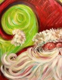 "whimsical santas to paint | online sales closed $50.00 Ladies Painting Class - ""Whimsical Santa"""