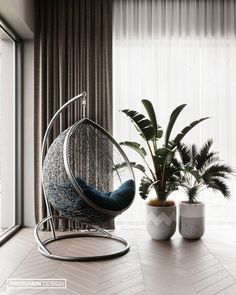 GOODLIFE PARK on Behance Living Room Decor, Living Spaces, Bedroom Decor, Master Bedroom Interior, 2020 Design, Other Rooms, Apartment Interior, Dining Room Design, Hanging Chair
