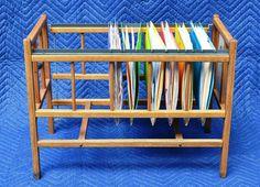 Vintage Wooden Doll Crib Repurposed As Hanging by AlleghenyPlum