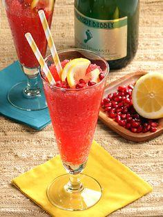 Frozen Moscato-Lemonade. Sounds Tasty: 3 oz Moscato 1 oz Lemon Juice 1.5 Simple Syrup 1 oz pomegranate juice