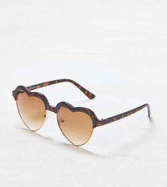 AEO Tortoise Shell Heart Sunglasses