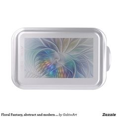 Floral Fantasy, abstract and modern Fractal Art Cake Pan
