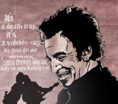 "Bruce Springsteen ""Born To Run"" lyrics :) artwork by Joe DiChiara"