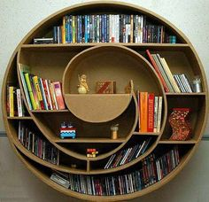 Environmental creative bookshelf